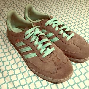 Adidas Samba grey and teal size 8 women's